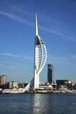 Spinnaker tower in winter Stock Photo