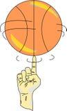 Spinnen eines Basketballs Lizenzfreie Stockfotografie