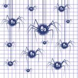 Spinnen-Hintergrundillustration stock abbildung
