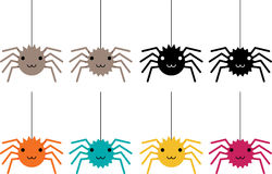 Spinnen in kleuren Royalty-vrije Stock Fotografie