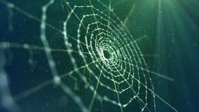 Spinnen-Netz im kakifarbigen Hintergrund stock abbildung
