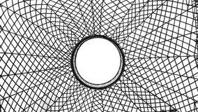 Spinnen-Netz im Weiß lizenzfreie stockfotografie