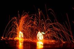 Spinnen Sie das Feuer Lizenzfreie Stockfotografie