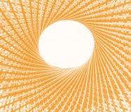 Spinnen Sie Musterkreis und durchlöchern Sie mitten in Bambushintergrund stockfoto