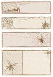 Spinnen-Web-Fahnen Lizenzfreie Stockbilder