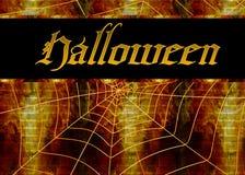Spinnen-Web-Halloween-Hintergrund Stockbilder