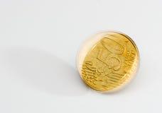 Spinnend gouden muntstuk Stock Afbeelding