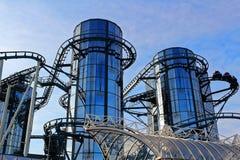 Spinnende achtbaan euro-Mir Stock Afbeelding