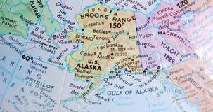 Spinnende bolkaart van Alaska de V.S. 4K stock footage