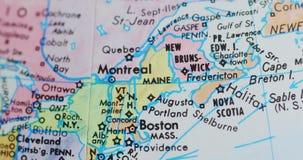 Spinnende bolkaart van Maine de V.S. 4K stock video