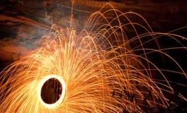 Spinnende Brand Stock Afbeelding