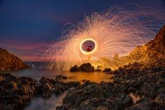 Spinnende brand Stock Fotografie