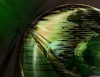 Spinnende Erde-Kugel (Grün) Stockfotos