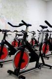 Spinnende Fahrräder Lizenzfreies Stockfoto