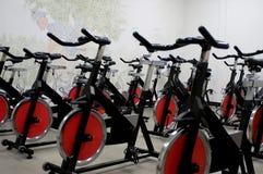 Spinnende Fahrräder Lizenzfreie Stockfotografie