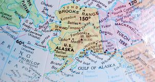 Spinnende Kugelkarte von Alaska USA 4K stock footage