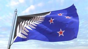 Spinnende Landesflagge Neuseeland stock abbildung
