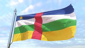 Spinnende Landesflagge Republik Zentralafrika lizenzfreie abbildung