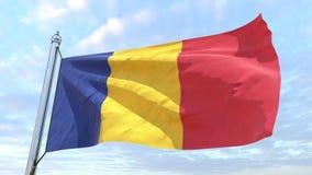 Spinnende Landesflagge Rumänien vektor abbildung