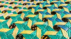 Spinnende mehrfarbige Plastiklinien Muster Lizenzfreies Stockfoto