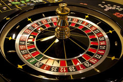 spinnende roulette in casino Stock Foto