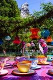 Spinnende Theekoppen Disneyland royalty-vrije stock afbeelding