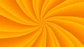 Spinnender heller symmetrischer Trichter von orange Scheiben lizenzfreie abbildung