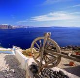Spinnendes Rad Santorini Lizenzfreie Stockbilder