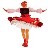 Spinnendes Tanzen des Mädchens auf Stadium Lizenzfreie Stockbilder