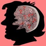 Spinnennetze im Gehirn Lizenzfreies Stockfoto