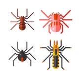 Spinnenvektorikonen eingestellt Lizenzfreies Stockbild