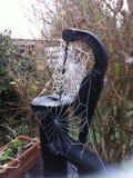Spinnenweb im Morgentau Lizenzfreies Stockfoto