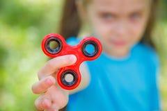 Spinner - antistressstuk speelgoed stock fotografie