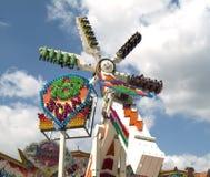 Spinner bij funfair stock afbeelding