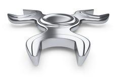 Spinner - ein Schlüssel Das Konzept eines modernen modernen Werkzeugsatzes Stockfoto