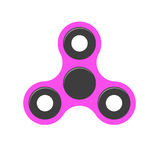 Spinner era. A modern anti-stress toy in a flat style. A toy for hands and fingers. Purple color. Isolated on white background. Hi Royalty Free Stock Photo