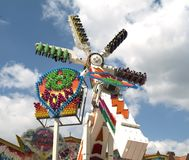 Spinner at the funfair. (blue sky stock image
