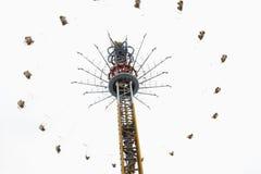 Spinner in het pretpark Royalty-vrije Stock Foto's