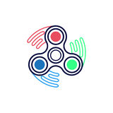 Spinner icon. Outline style. Spinner icon. Outline illustration of spinner vector icon for web design on white background royalty free illustration