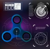 Spinner infographic,HUD elements spinner. Futuristic user interface. Eps 10 blue stock illustration