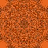 Spinneweb vector sierachtergrond Royalty-vrije Stock Afbeelding