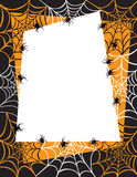 Spinnewebachtergrond Royalty-vrije Stock Afbeeldingen