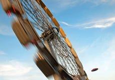 Spinning. Big wheel at a fair Royalty Free Stock Photos