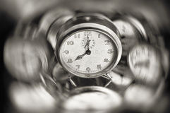 Spinning alarm clock Stock Images