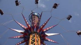 Spinning, Amusement Park Rides, Fun, Leisure stock footage