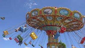 Spinning, Amusement Park Rides, Fun, Leisure stock video