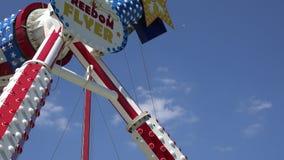 Spinning, Amusement Park Rides, Fun, Leisure stock video footage