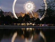 Spinning around Paris in a Ferris Wheel Royalty Free Stock Photos