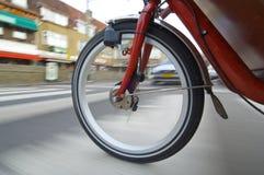 Spinning Bicycle Wheel Stock Photos