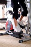 Spinning bike in a gym Royalty Free Stock Photos